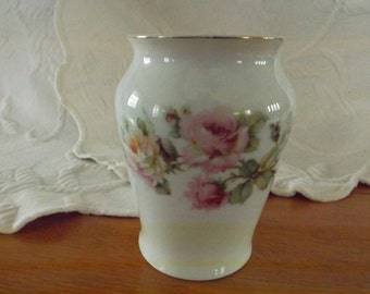 Vintage Small Floral Vase Made In Germany