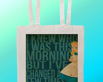 Alice In Wonderland - Reuseable Shopping Cotton Canvas Tote Bag