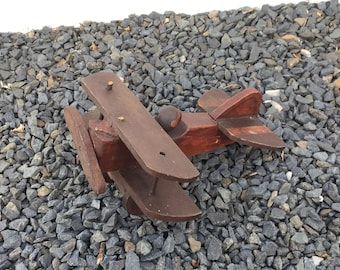 Folk Art Nieuport Scout WW 1 Era Wood French Fighter Plane