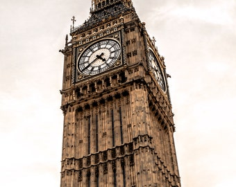 Dreamy Big Ben Print: Big Ben London, Big Ben Photography