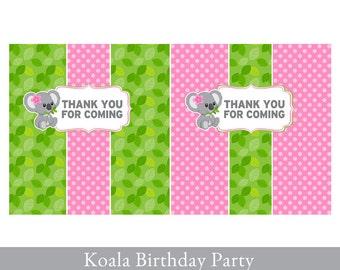 Koala Candy Bar Wrapper, Candy Bar Wrapper printable, Candy Label printable, Koala Party Printable, Koala Party Decorations