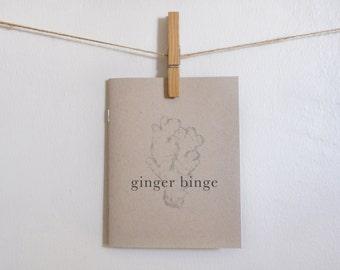 Ginger Binge zine, by Annie Soga