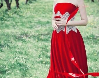 Bobbin Lace  corset belt bobin lace russian lace wedding dress hand made