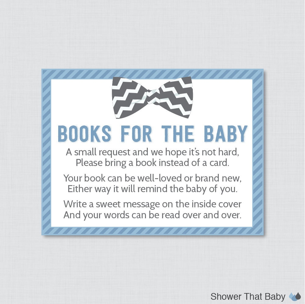Baby Shower Books Instead Of Cards ~ Bow tie baby shower printable bring a book instead of card