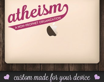 Atheism - A Non-Prophet Organization.  Vinyl Decal.  Atheism Decal, Atheist Decor, Atheist Art, Atheist Pride, Funny Decal.