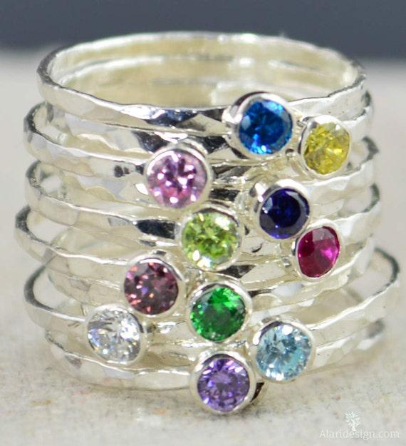 stackable birthstone rings stackable gemstone rings. Black Bedroom Furniture Sets. Home Design Ideas