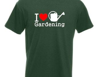 I Love Gardening T-Shirt Joke Funny Tshirt Tee Shirt Gardener