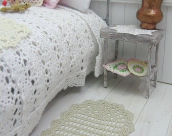 1:12 Dollhouse miniature crochet rug, model #77