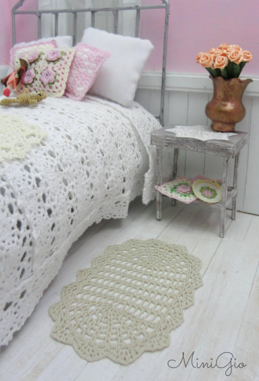 Star Wars Crochet Doll Pattern : 1:12 Dollhouse miniature crochet rug model 77