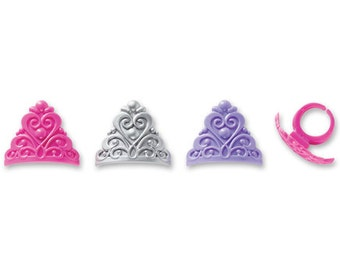 Princess Crown Ring Toppers (12)