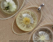 Dandelion pendant Real dried dandelions Handmade dandelion jewelry Make a wish Personalised necklaces Mother daughter necklace One of a kind