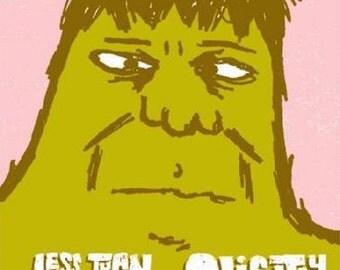 Less Than Jake Slightly Stoopid Tucson 2006 concert poster silkscreen Hulk Orig