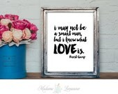 printable love quote Forest Gump quote LOVE printable art Valentine minimalist art printable art DIY art print wall art prints love quotes