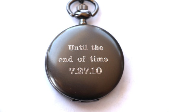 Watch As Wedding Gift: Groom Gift Pocket Watch Engraved Mens Pocket Watch