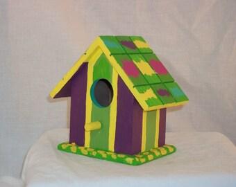 Hand Painted Decorative Birdhouse