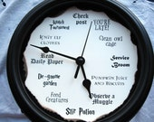 Harry Potter Clock, 8.75 inches