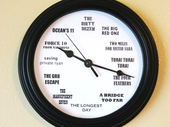 Classic Man Movie Clock