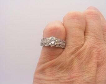 1.50 Carat T.W. Round Cut Certified Diamond Engagement Ring 14K White Gold