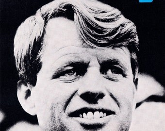 Bobby Kennedy Presidential Campaign Poster, Robert Kennedy, Civil Rights, Equality, Political Progress, Democrats, Politics