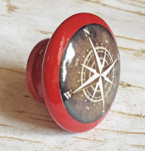 On Sale Nautical Compass Knob Drawer Pulls Antique By