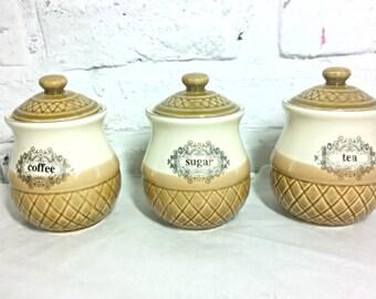 Pots à épices vintage porcelaine