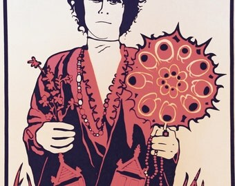 Donovan Black Light Poster 1968