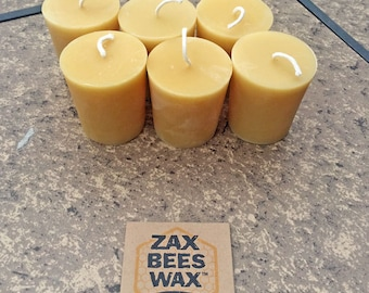 100% Pure & Natural Beeswax Votive Candles | Zax Beeswax