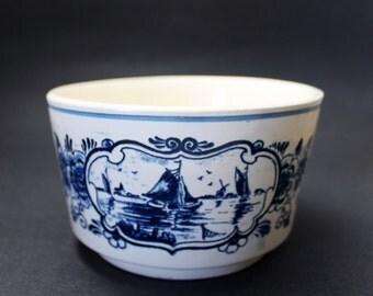 Vintage Delft Blue Planter or Bowl, Delfts Blauw, Made in Holland