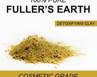 Fuller's Earth Clay Powder, 6 oz, Detoxifying Face Mask and Body Powder, Soap Additive, Etc.
