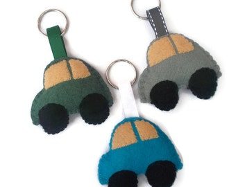 Car Keyring Gift for Him, Felt Car, Gifts for Men, Fathers Day Gift, Car Lover Gifts