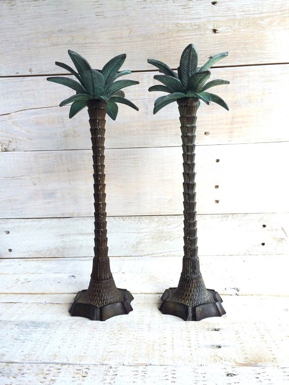 Candlestick Holders Metal Palm Tree Candle Holder Tropical