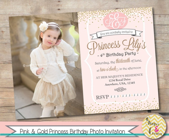 Princess invitation printable princess party invite personalized il570xn filmwisefo