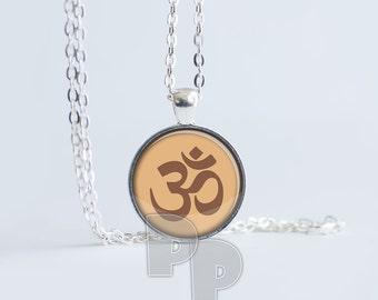 Om Peace Calm Art Pendant Meditation Jewelry Yoga Necklace Namaste