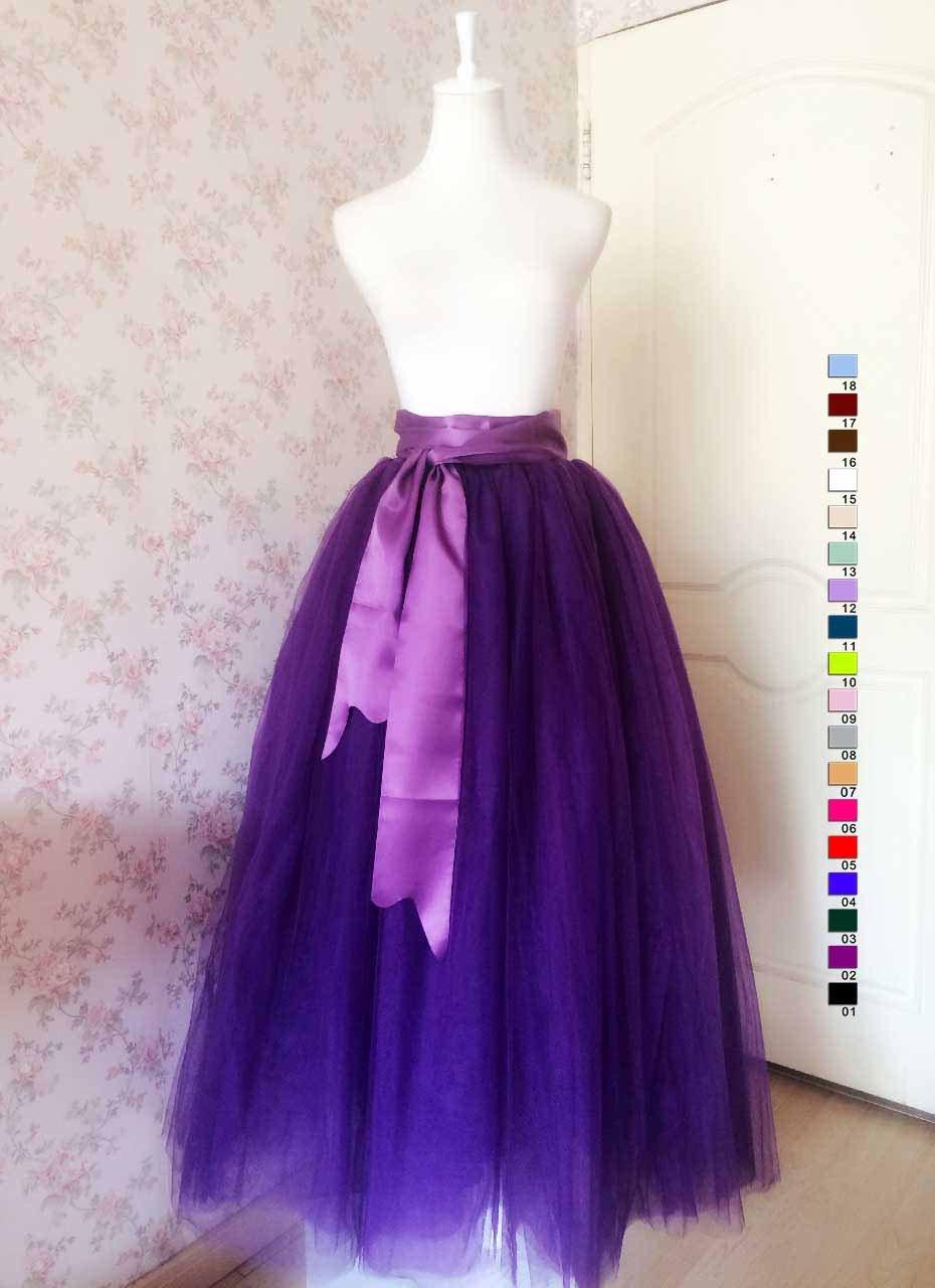 purple maxi skirt maxi tulle skirt adults maxi