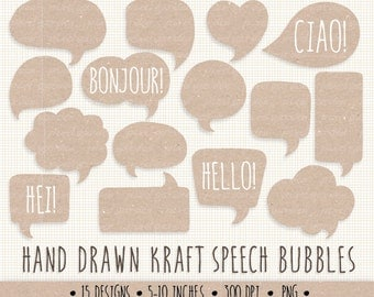 70% OFF SALE. Kraft Speech Bubble Clip Art. Hand DrawnThought Bubble Illustration. Kraft Labels and Tags. Chat Box Graphics. Kraft Frames.