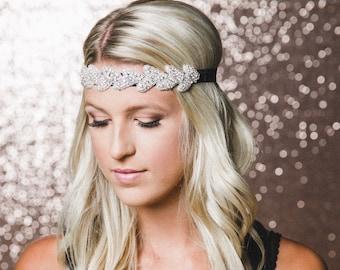 Rhinestone Headband | Silver Bridal Headband | Silver Wedding Hairpiece | The HANNAH