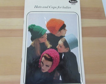 Vintage (1960s) knitting and crochet patterns, Hats and Caps for ladies, Patons  book 838