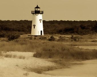 Vintage Edgartown Lighthouse ~ Martha's Vineyard, MA, New England, Travel Photography, Beach, Nautical, Photograph, Artwork, Coastal Decor