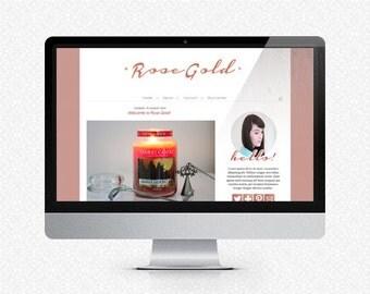 Rose Gold: Premade Blogger Template