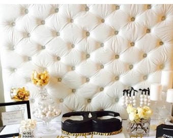 Tufted Upholstered Headboard Photography Table Backdrop