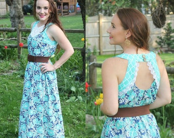 Women's Soho Maxi PDF Sewing Pattern ... Sizes XS-XL