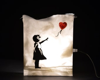 Girl with ballon Banksy Lamp