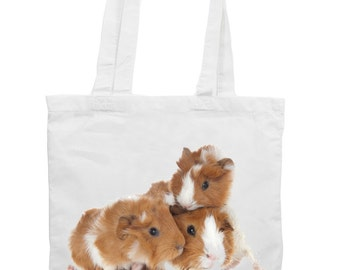 Guinea Pig Family Cotton Tote Shopping Bag