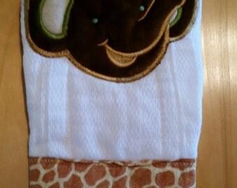 Burp Cloth Animal