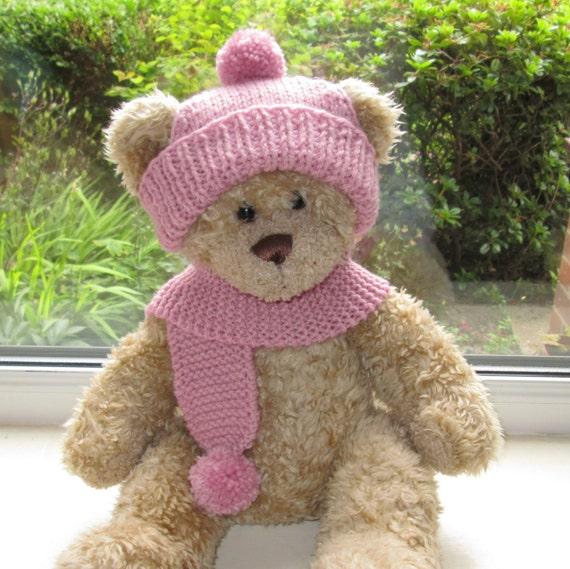Teddy Bear Clothes Hand Knitted Aran Bobble by ...