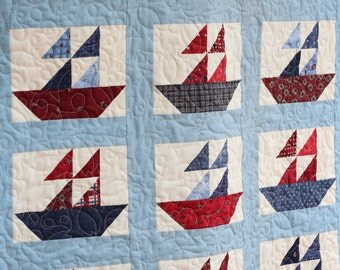 Yacht (Boat) Baby Quilt