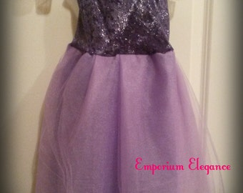 Lavendar/ Purple Toddler Tutu Dress/ Glitter Top