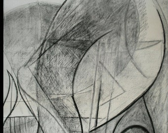 Charcoal drawing on paper entitled 'Grace ii'