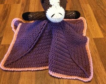 Baby Girl Horse Lovey Security Blanket