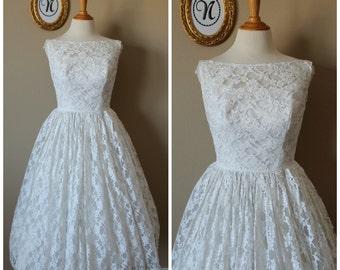 Vintage 1950's ~ 50's Emma Domb Wedding Dress.